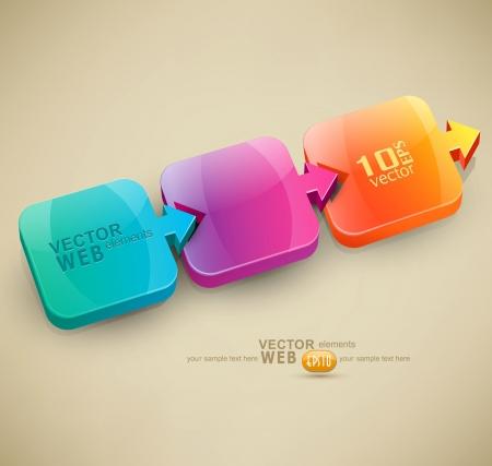 비즈니스를위한 색깔 된 화살표 디자인 요소와 벡터 추상적 인 배경