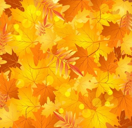 Vector Frühling Hintergrund mit goldenen Blättern