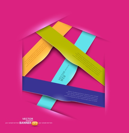 vector colorful banners design elements for business Vector