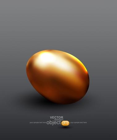 currency glitter: vector golden egg