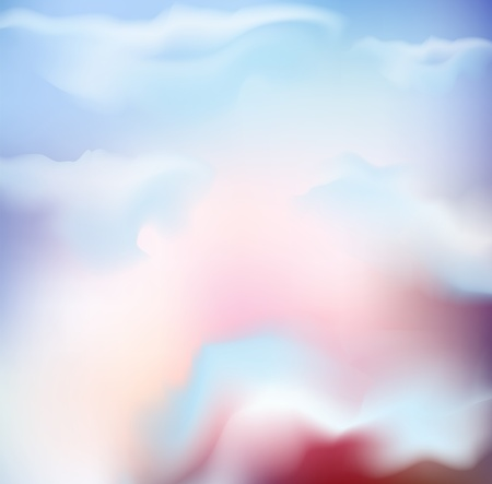 skylight: vector background of the sky with pink clouds Illustration