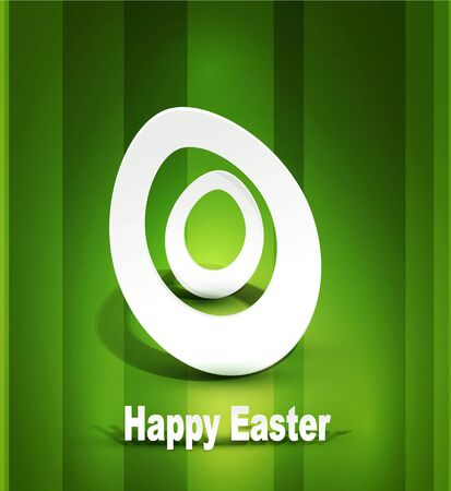 background with Easter egg 3d Vector