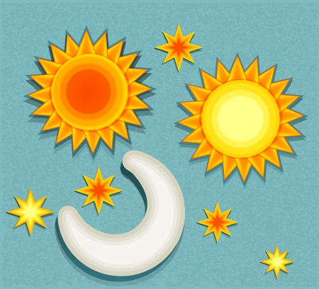 set of vector elements for weather forecast Stock Vector - 18404500