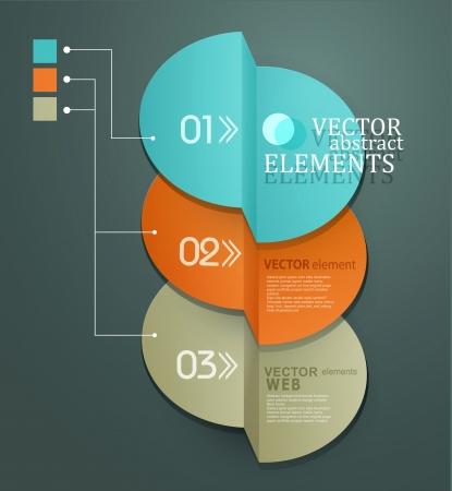 비즈니스 및 웹 디자인을위한 벡터 요소