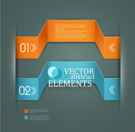 Modern vector banner  Items for Web   Business Design  Stock Vector - 18568720