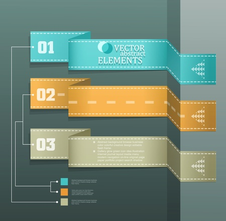 Modern vector banner  Items for Web   Business Design  Stock Vector - 18568717