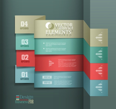 Modern vector banner  Items for Web   Business Design  Stock Vector - 18568730