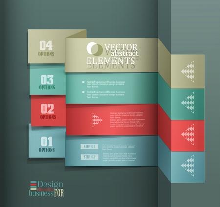Modern vector banner  Items for Web   Business Design Stock Vector - 18568730