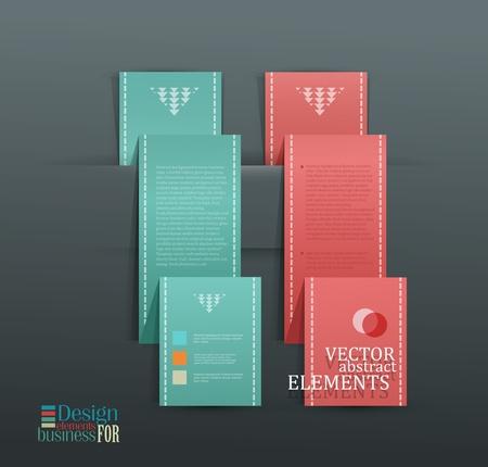Modern vector banner  Items for Web   Business Design