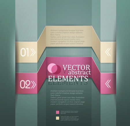 Modern  banner  Items for Web   Business Design  Stock Vector - 18968865