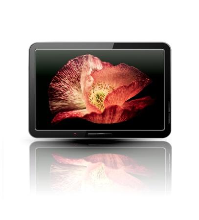 fullhd: Lcd, plasma tv with beautiful poppy  Illustration