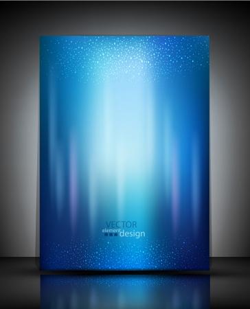 벡터 패턴 파란색 책자