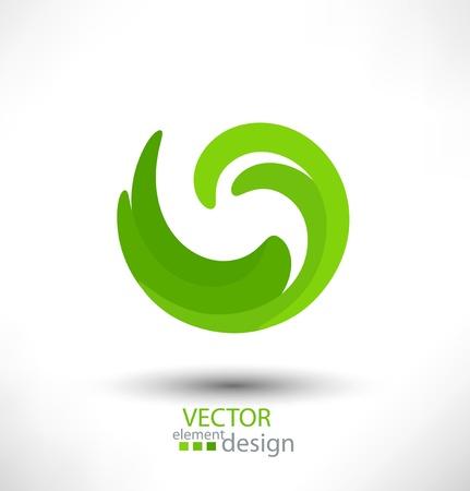 infinito: Elemento de dise�o abstracto vector verde para los negocios Vectores
