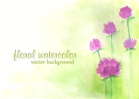 aquarell: vector watercolor floral background