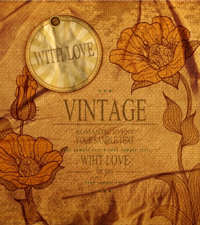 vintage romantic background with flowers Stock Vector - 20747098