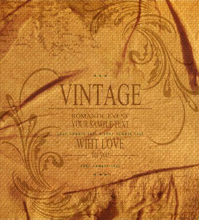 vintage romantic background Stock Vector - 20747102