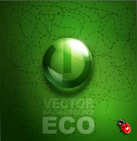 element for environmental design in the form of a button turn on   off and a ladybird Stock Vector - 20747366
