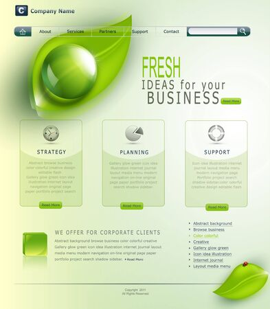 green website Stock Vector - 20747390