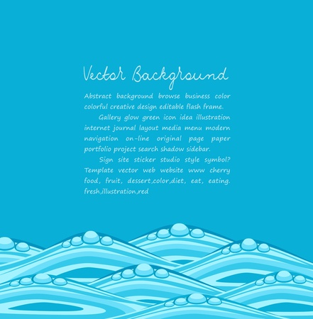 turbulent: blue background with ocean waves Illustration