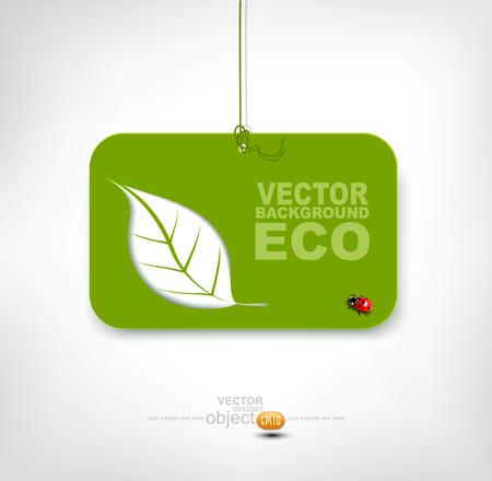 banner on environmental issues Vector