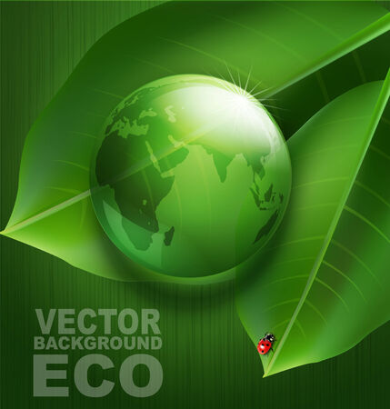 environmental issues: Green vector background on environmental issues