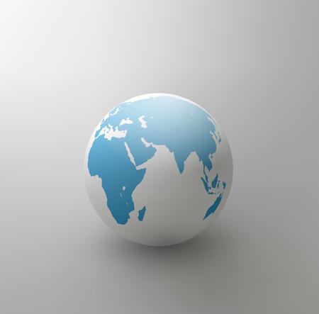 vector gray globe (element for design) Vector