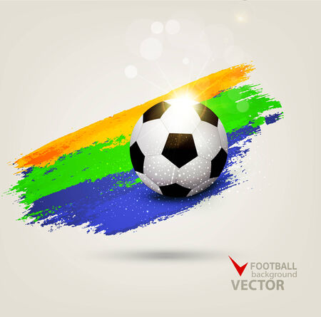 background on the football theme Vector