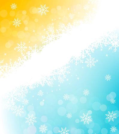 cold background: Background vacanze di Natale con i fiocchi di neve