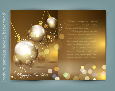 christmas element: festive background for Christmas and New Year Illustration