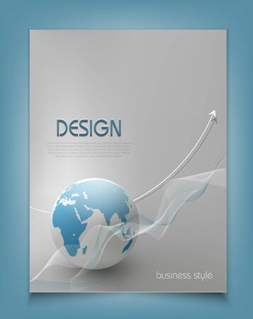 vector template for a business with a globe Vector