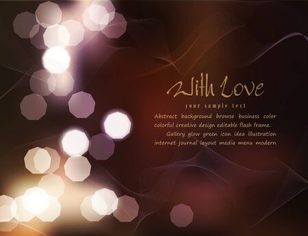 diffusion: vector romantic background with blur
