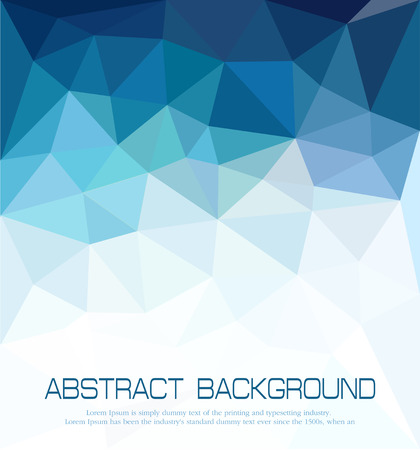 triangle shaped: vector abstract blue background with mosaic for business