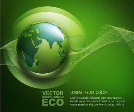 잎, 드롭 및 globе 생태 디자인 벡터 추상적 인 배경 스톡 콘텐츠 - 37458410