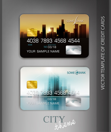 vector template credit cards with modern design
