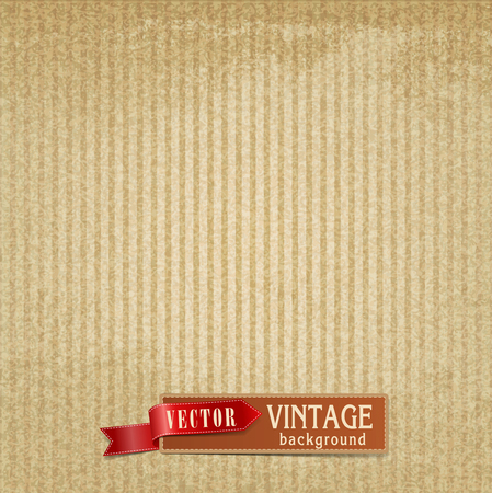 linen paper: Vector Vintage background with stripes