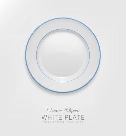 ceramic: placa de cer�mica de vectores con un borde azul