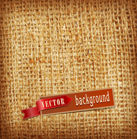 vector background (texture, burlap)