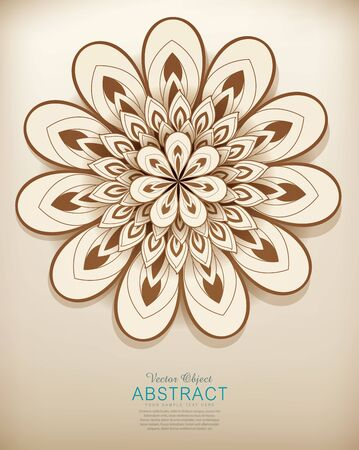 flores abstractas: dibujado a mano vector patr�n de flores abstractas Vectores