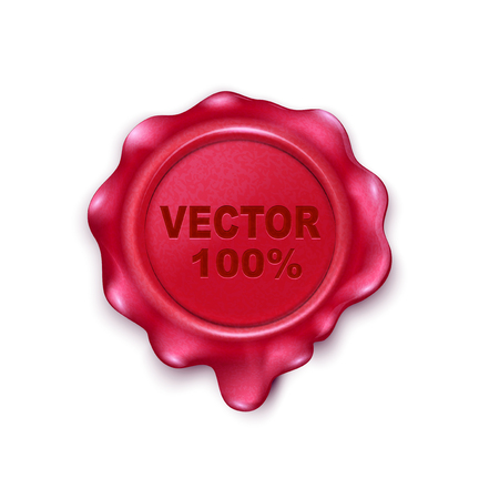 postage: Vector wax seal isolated on white background
