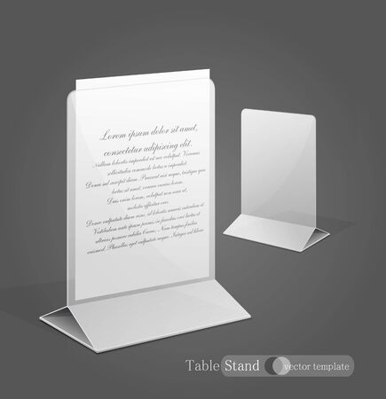 display: vector stand for advertising paper
