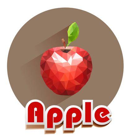 manzana roja: iconos vectoriales manzana roja de los triángulos
