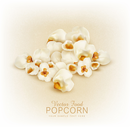buttered: vector  isolated  popcorn
