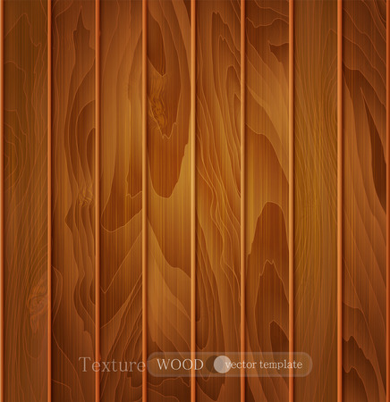piece of furniture: vector wood background (texture) of brown wooden planks Illustration