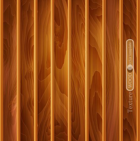 pieces of furniture: vector wood background (texture) of light-brown wooden planks Illustration