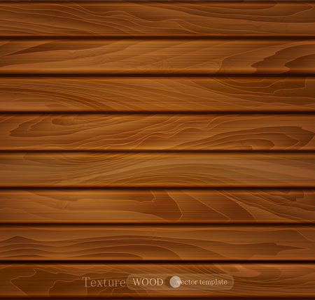 vector wood background of brown wooden planks