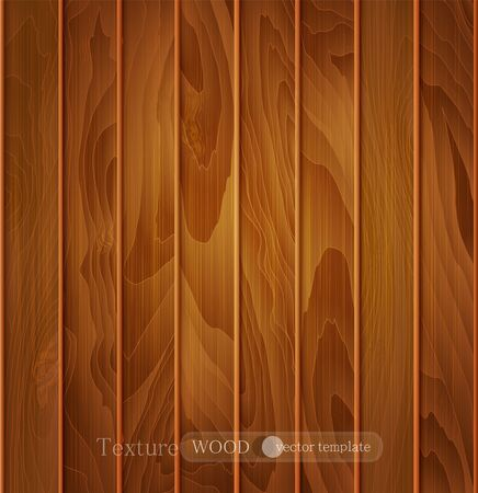 wood planks: vector wood background (texture) of brown wooden planks Illustration