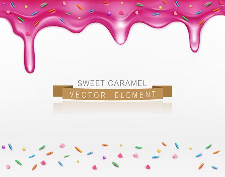 vector icing with sprinkles element for design Illustration