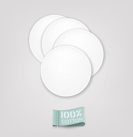 pads: Vector cotton pads Illustration