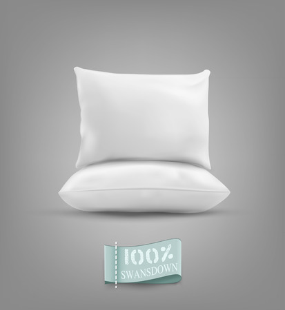 calico: Two vector pillow isolated on a gray background Illustration