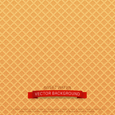 belgian waffle: vector background (texture wafer)